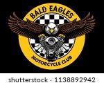 bald eagle badge grip the... | Shutterstock .eps vector #1138892942