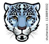 snow leopard head | Shutterstock .eps vector #1138893032