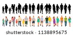 fashion people go  silhouette | Shutterstock .eps vector #1138895675