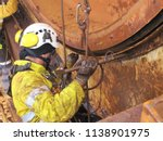 closeup pictures of rope access ... | Shutterstock . vector #1138901975