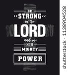 lettering   be strong in the... | Shutterstock .eps vector #1138904528
