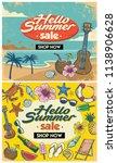 retro summer flyer design | Shutterstock .eps vector #1138906628