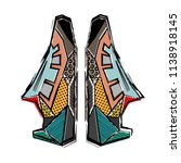 two abstract shoues silhouettes ... | Shutterstock .eps vector #1138918145