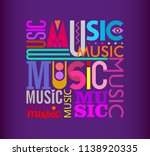 colorful text design on a dark... | Shutterstock .eps vector #1138920335