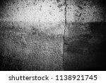 black and white old cement wall ... | Shutterstock . vector #1138921745
