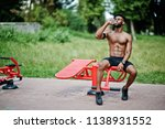 african american male athlete... | Shutterstock . vector #1138931552