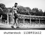 african american male athlete... | Shutterstock . vector #1138931612