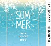 summer sale and beach... | Shutterstock .eps vector #1138938425