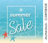 summer sale and beach... | Shutterstock .eps vector #1138938428