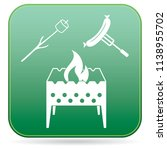 brazier  zephyr and sausage... | Shutterstock .eps vector #1138955702