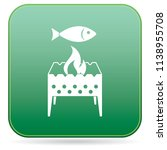 brazier grill with fish icon.... | Shutterstock .eps vector #1138955708