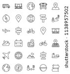 thin line vector icon set  ... | Shutterstock .eps vector #1138957502