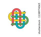 vector illustration of knot for ... | Shutterstock .eps vector #1138974065