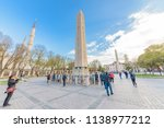 obelisk of theodosius or... | Shutterstock . vector #1138977212