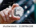 businessman using innovative... | Shutterstock . vector #1138986188