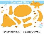 educational paper game for... | Shutterstock .eps vector #1138999958