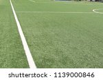 marking a green artificial... | Shutterstock . vector #1139000846