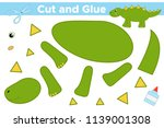 educational paper game for kids....   Shutterstock .eps vector #1139001308