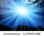 tree landscape at night with... | Shutterstock .eps vector #1139001488