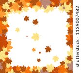frame with autumn leaves.... | Shutterstock .eps vector #1139007482