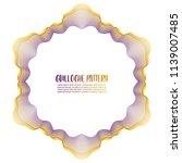 guilloche pattern on white... | Shutterstock .eps vector #1139007485