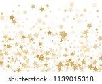gold stars confetti falling... | Shutterstock .eps vector #1139015318