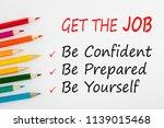 get the job  3 ways to... | Shutterstock . vector #1139015468