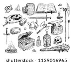 vector artistic pen and ink... | Shutterstock .eps vector #1139016965