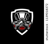 Gas Mask Badge Logo Vector...