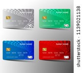 credit card set . with... | Shutterstock .eps vector #1139021138