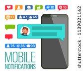 chat notification vector.... | Shutterstock .eps vector #1139021162