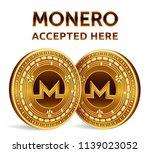monero. accepted sign emblem....   Shutterstock .eps vector #1139023052
