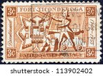 usa   circa 1955  a stamp... | Shutterstock . vector #113902402