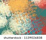 contemporary art. hand made art.... | Shutterstock . vector #1139026838