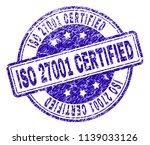 iso 27001 certified stamp seal... | Shutterstock .eps vector #1139033126
