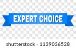 expert choice text on a ribbon. ... | Shutterstock .eps vector #1139036528