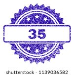 35 stamp imprint with scratched ... | Shutterstock .eps vector #1139036582