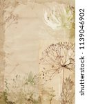 watercolor fall texture old... | Shutterstock . vector #1139046902