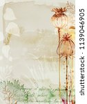 watercolor fall texture old... | Shutterstock . vector #1139046905