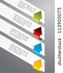 light advertising labels with... | Shutterstock .eps vector #113905075