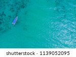 top view of a speed boat in the ... | Shutterstock . vector #1139052095