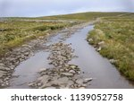 stony road across the tundra... | Shutterstock . vector #1139052758