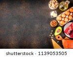 ketogenic low carbs diet... | Shutterstock . vector #1139053505