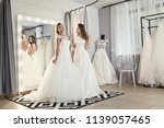 models in expensive lace... | Shutterstock . vector #1139057465