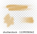 vector sand stains isolated on... | Shutterstock .eps vector #1139058362