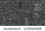 gadgets and devices pattern | Shutterstock . vector #1139064308
