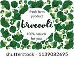 vector illustration of broccoli ... | Shutterstock .eps vector #1139082695