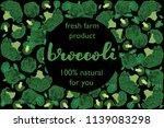 vector illustration of broccoli ... | Shutterstock .eps vector #1139083298