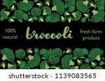 vector illustration of broccoli ... | Shutterstock .eps vector #1139083565