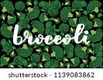 vector illustration of broccoli ... | Shutterstock .eps vector #1139083862